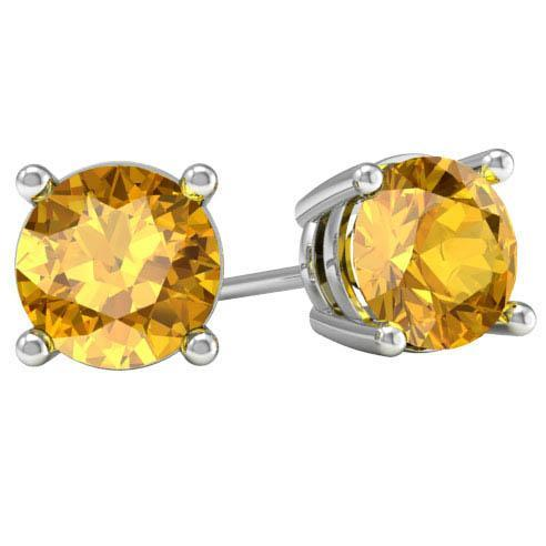 Citrine Stud Earrings Gemstone Stud Earrings deBebians