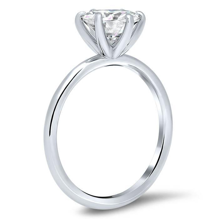 Classic Solitaire Engagement Ring Setting with 6 Prongs Solitaire Engagement Rings deBebians
