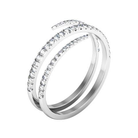 Coiled Diamond Wedding Ring