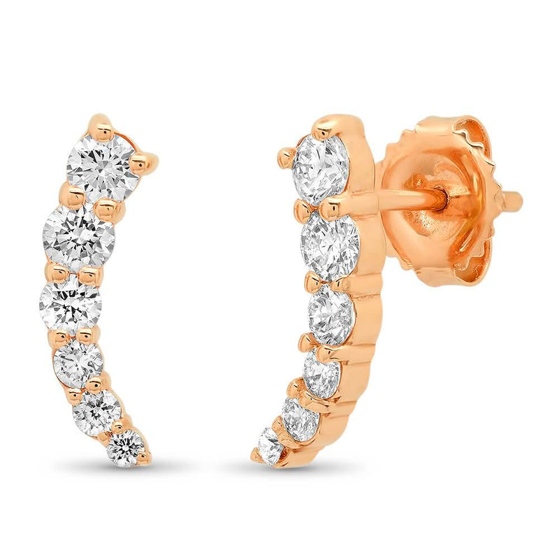 1.50cttw GIA Certified Diamond Stud Earrings