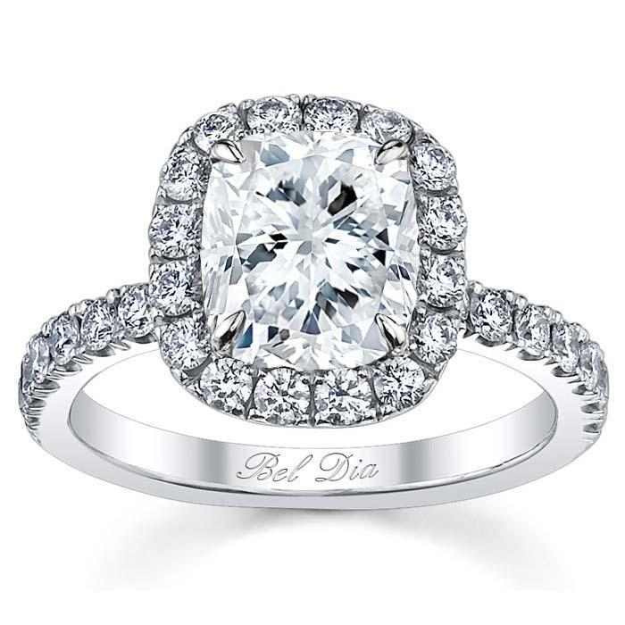 Cushion Cut Halo Engagement Ring Halo Engagement Rings deBebians
