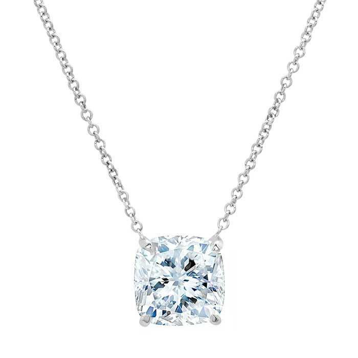 Cushion Cut Forever One Moissanite Women's Pendant Moissanite Necklaces deBebians