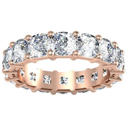 Cushion Cut Shared Prong Diamond Eternity Band - 7.00 carat Diamond Eternity Rings deBebians