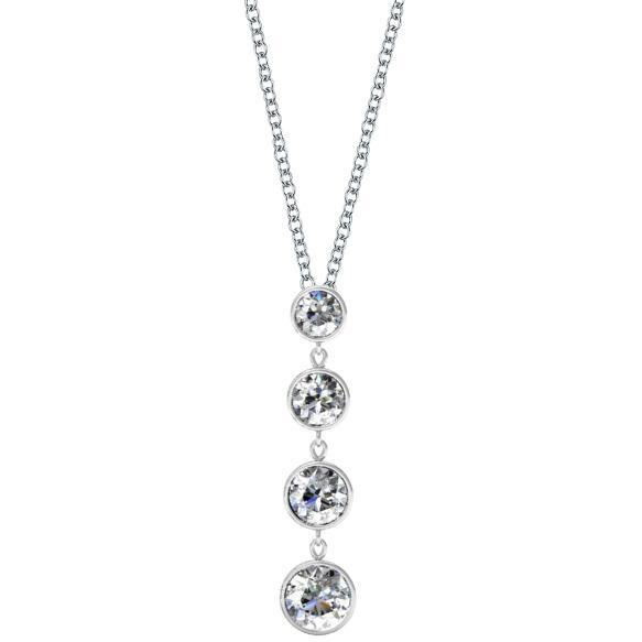 Dangling Diamond Pendant Necklace Diamond Necklaces deBebians