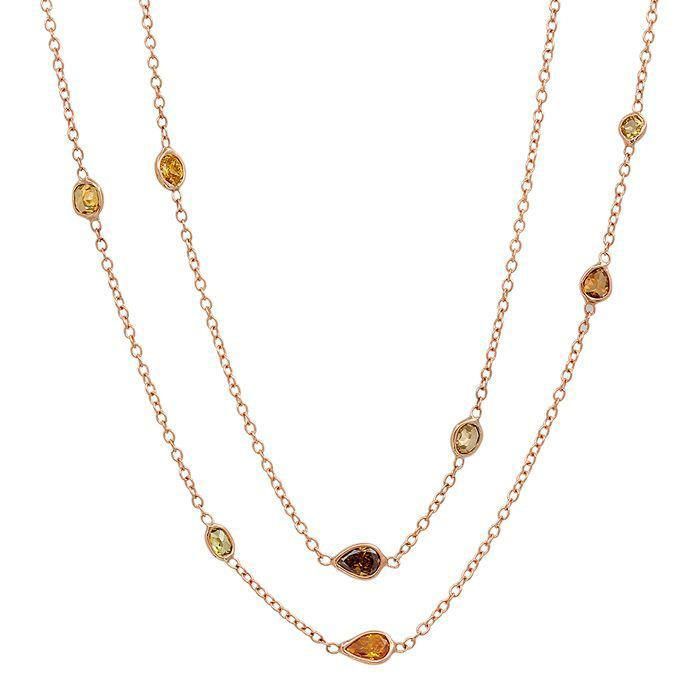 Dark Fancy Colored Diamond Sprinkle Necklace Gift Ideas Over $1500 deBebians