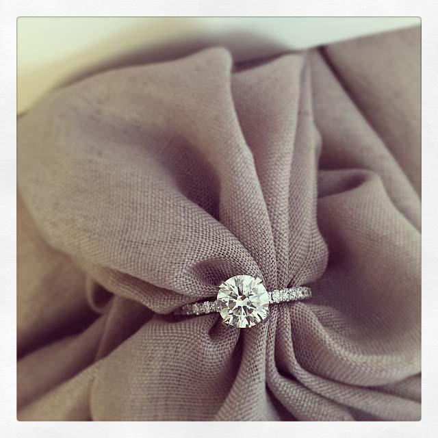 Diamond Accented Diamond Engagement Ring Diamond Accented Engagement Rings deBebians