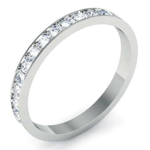 Round Micro Pave Diamond Eternity Band - 0.85 carat Diamond Eternity Rings deBebians