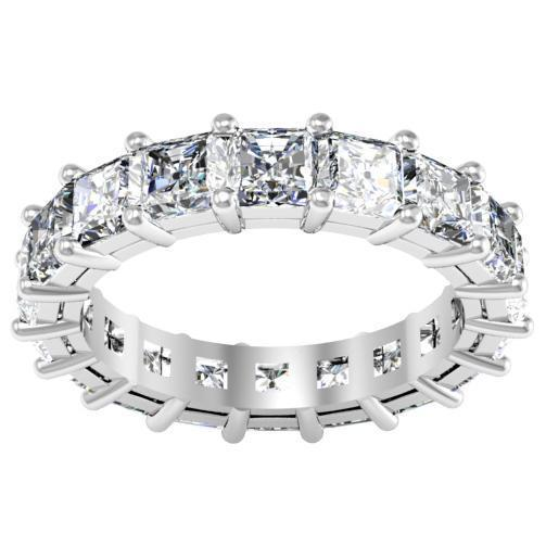 Radiant Cut Shared Prong Diamond Eternity Band - 5.00 carat - SI Clarity Diamond Eternity Rings deBebians