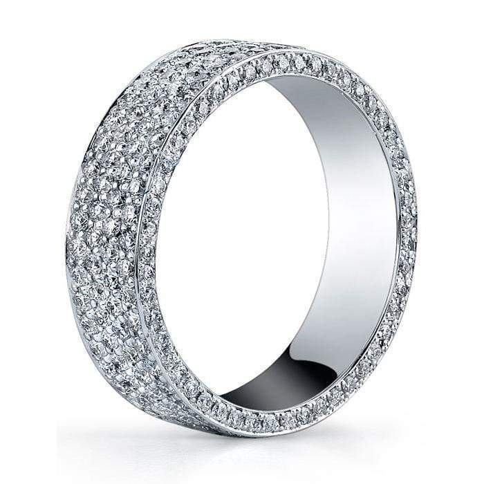 1.60 cttw Round Micro Pave Set Diamond Eternity Band Diamond Eternity Rings deBebians