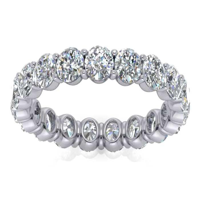 Oval Cut Shared Prong Diamond Eternity Band - 3.80 carat - VS Clarity Diamond Eternity Rings deBebians