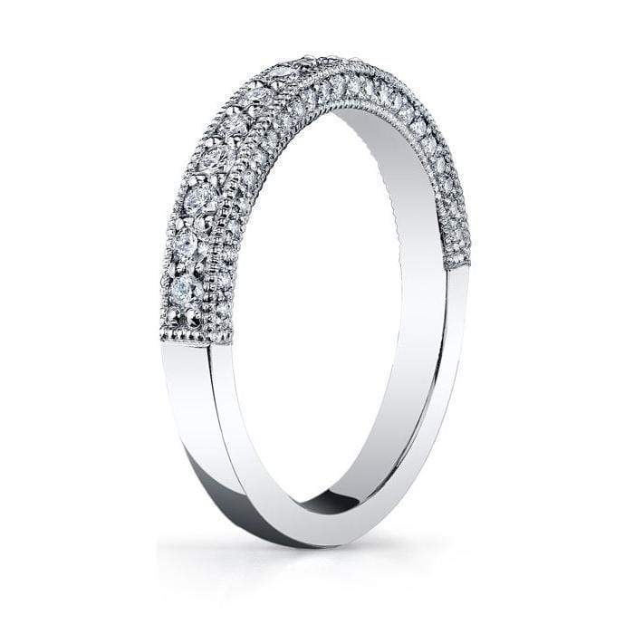 Diamond Half Eternity Micro Pave with Milgrain Half Eternity Rings deBebians