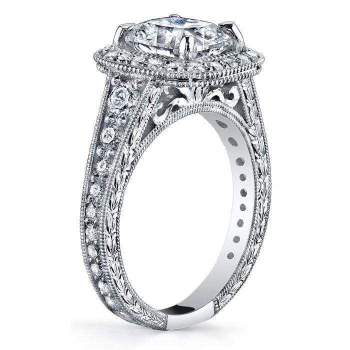 Diamond Halo Engagement Ring 1.25cttw