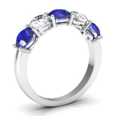 2.00cttw Diamond Sapphire Ring September Birth Stone