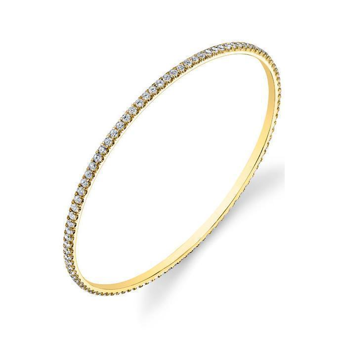 Forever One Moissanite Pave Bangle Bracelet Bracelets deBebians