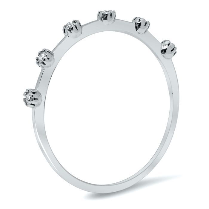 Diamond Station Style Wedding Ring