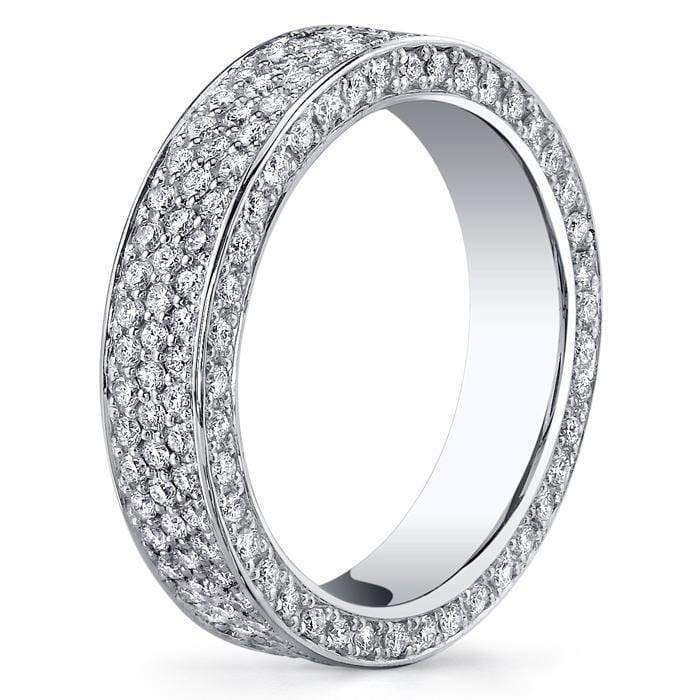 2.30 cttw Round Micro Pave Set Diamond Eternity Band Diamond Eternity Rings deBebians