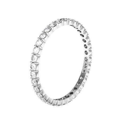 Round Shared Prong Diamond Eternity Band - 0.70 carat - I1 Clarity Diamond Eternity Rings deBebians