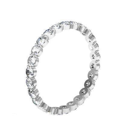 1.00 cttw Round Shared Prong Buttercup Diamond Eternity Band Diamond Eternity Rings deBebians