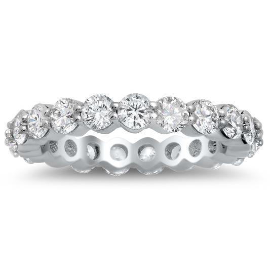 2.00 cttw Round Shared Prong Buttercup Diamond Eternity Band Diamond Eternity Rings deBebians