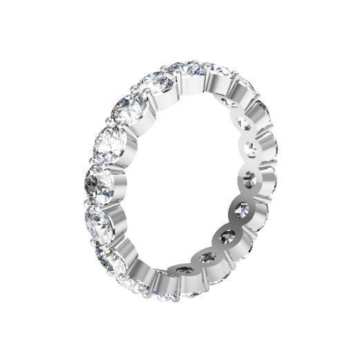 3.00 cttw Round Shared Prong Buttercup Diamond Eternity Band Diamond Eternity Rings deBebians
