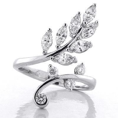 Diamond Leaf Ring Gift Ideas Over $1500 deBebians
