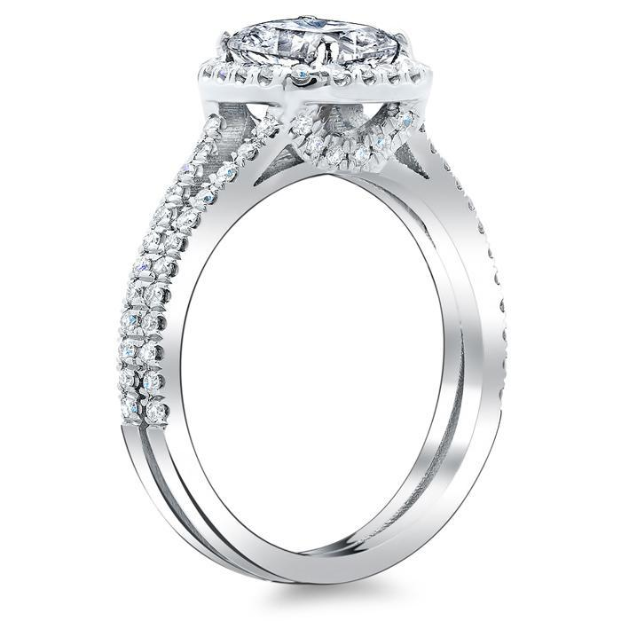 Double Shank Cushion Diamond Engagement Ring