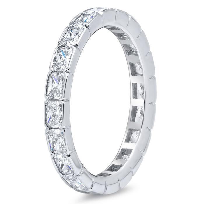 East-West Radiant Diamond Eternity Ring