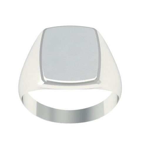 Solid White Gold Signet Ring Signet Rings deBebians