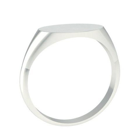 Ring Signet Surface Long Oval Signet Rings deBebians