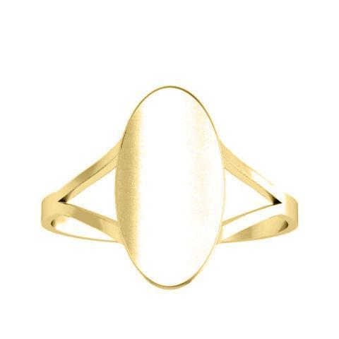 Tapered Shank Signet Rings Tall Oval Signet Rings deBebians