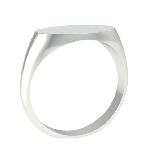 White Gold Signet Ring Oval Shaped Signet Rings deBebians