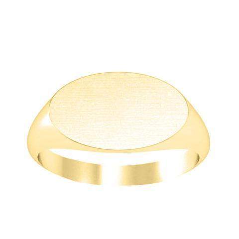 Wide Oval Signet Rings Open Back Signet Rings deBebians