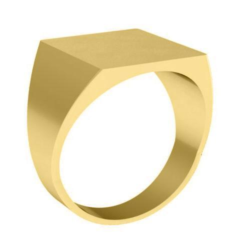 Square Signet Ring Signet Rings deBebians