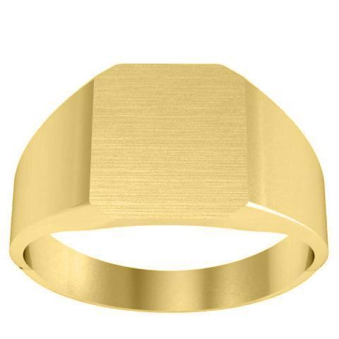 Solid Back Signet Ring Signet Rings deBebians