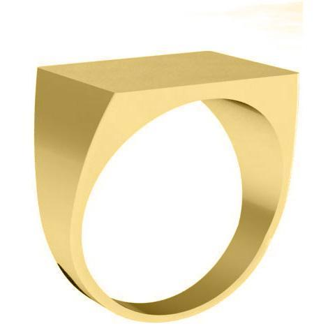 Large Square Signet Ring Signet Rings deBebians