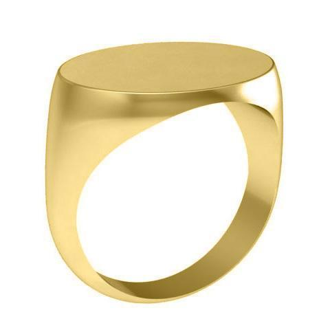 Wide Oval Signet Ring Signet Rings deBebians