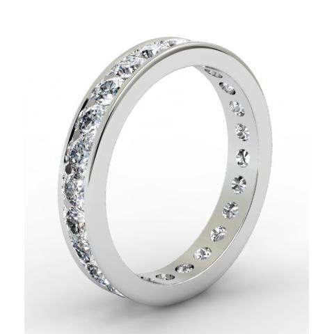 Round Channel Set Diamond Eternity Band - 1.50 carat - I1 Clarity Diamond Eternity Rings deBebians