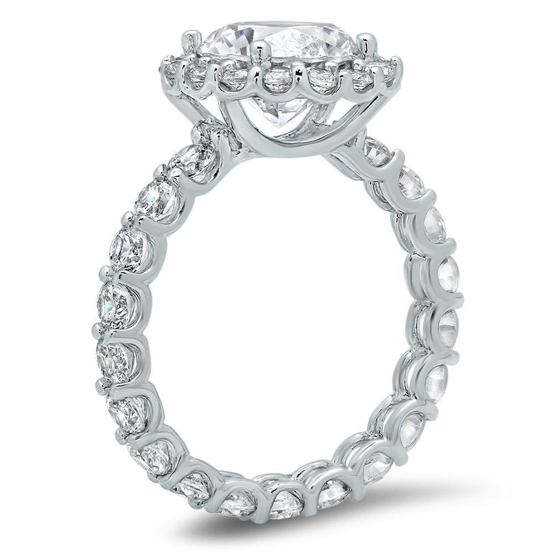 Eternity Engagement Ring Halo Engagement Rings deBebians