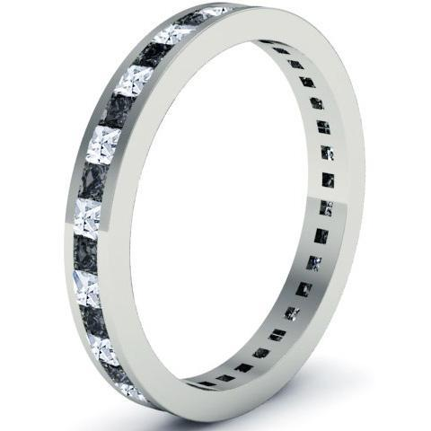 Eternity Ring with White and Black Diamonds Gemstone Eternity Rings deBebians