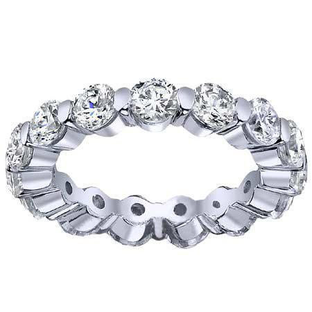 Round Single Prong Diamond Eternity Band - 2.50 carat - I1 Clarity Diamond Eternity Rings deBebians
