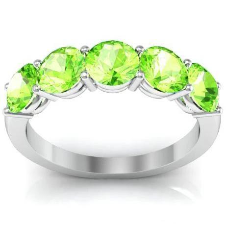 Five Stone Ring in Peridot