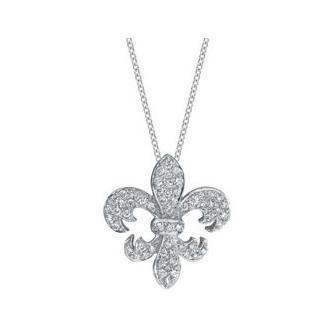 Fleur de Lis Diamond Pendant Diamond Necklaces deBebians