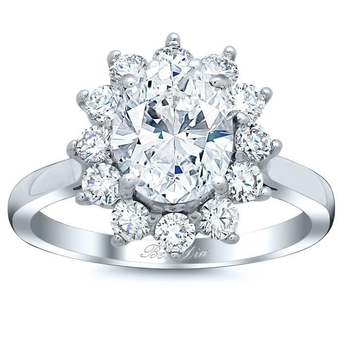 Floral Halo Engagement Ring Setting Halo Engagement Rings deBebians