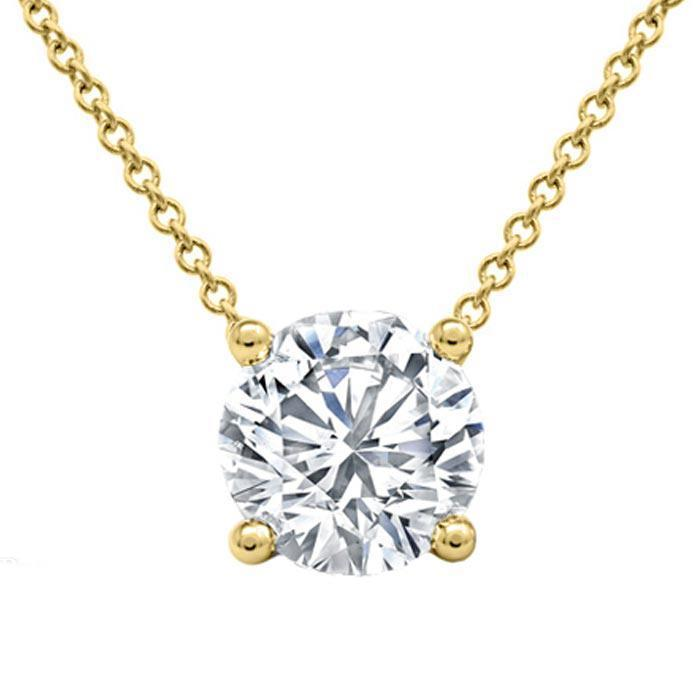 Forever One Floating Round Solitaire Pendant