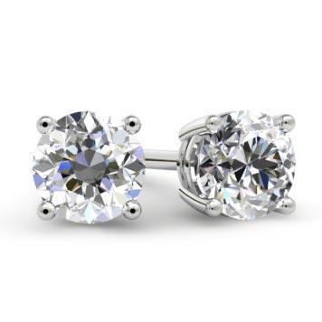 Forever One Moissanite Stud Earrings