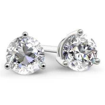Forever One Moissanite Stud Earrings - 3 Prong Earrings deBebians