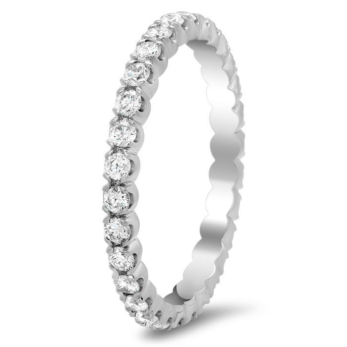 Round Four Prong Diamond Eternity Band - 0.70 carat Diamond Eternity Rings deBebians