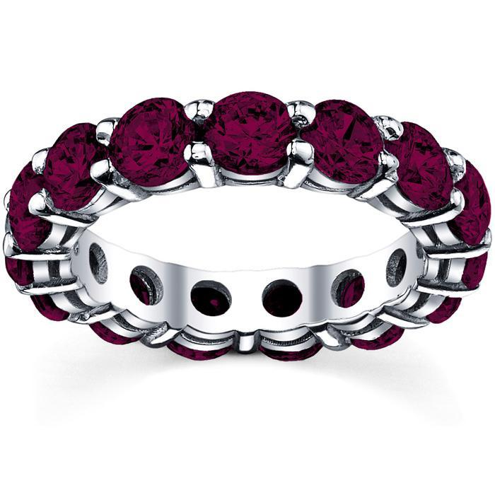 Garnet Anniversary Eternity Band Gemstone Eternity Rings deBebians