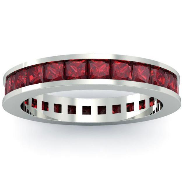 Diamond and Ruby Trinity Ring in Gold or Platinum