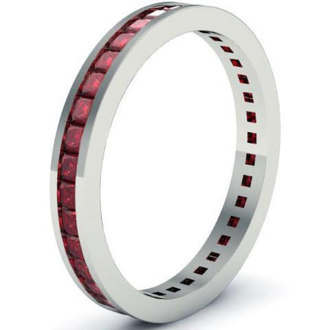 Garnet Eternity Ring Gemstone Eternity Rings deBebians